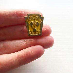 Vintage gold Little League Baseball lapel pin